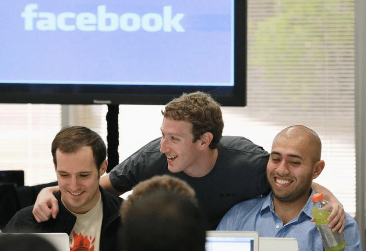 Марк Цукерберг и его друзья