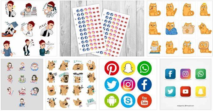 Стикеры из Социальных сетей