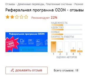 Партнёрка Озон