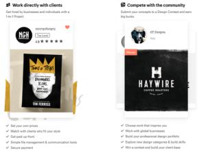 Конкурсы на 99designs примеры
