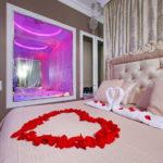 Обстановка интерьера для сдачи под романтические встречи